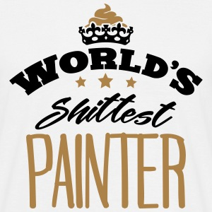 worlds shittest painter - Men's T-Shirt
