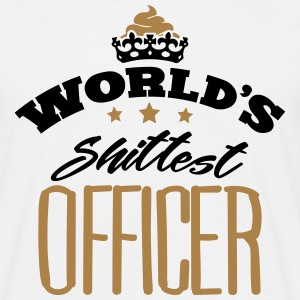 worlds shittest officer - Men's T-Shirt
