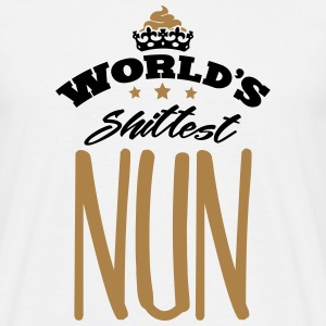 worlds shittest nun - Men's T-Shirt