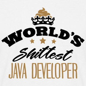 worlds shittest java developer - T-shirt Homme