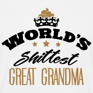 worlds shittest great grandma - Men's T-Shirt