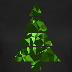Christmas Tree (Low Poly) Camisetas - Camiseta mujer