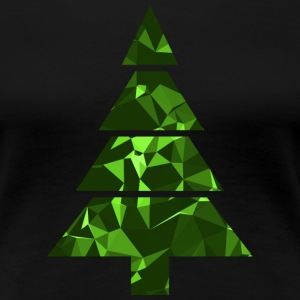 Christmas Tree (Low Poly) T-shirts - Vrouwen Premium T-shirt