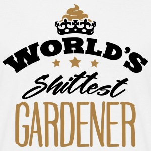worlds shittest gardener - Men's T-Shirt