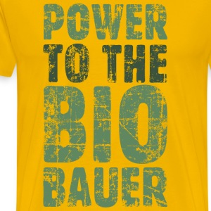 Power to the Biobauer (Vintage/Grün) S-5XL T-Shir - Männer Premium T-Shirt