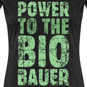 Power to the Biobauer (Vintage/Hellgrün) S-3XL T- - Frauen Premium T-Shirt