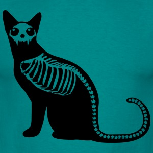 Gothic cat skeleton T-Shirts - Men's T-Shirt