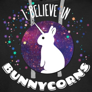 i believe in bunnycorns unicorns bunnies rabbit  Hoodies & Sweatshirts - Men's Premium Hoodie