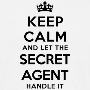 keep calm let secret agent handle it - T-shirt Homme