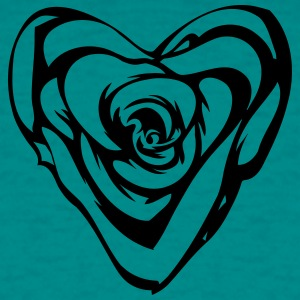 Gothic heart rose T-Shirts - Men's T-Shirt