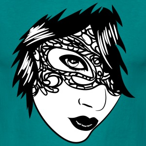 Gothic girl face jewelry T-Shirts - Men's T-Shirt