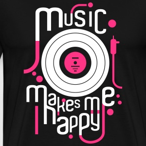 music makes me happy - Men's Premium T-Shirt