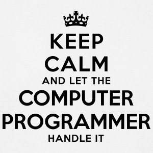 keep calm let the computer programmer ha - T-shirt Homme