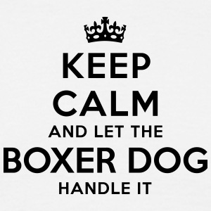 keep calm let the boxer dog handle it - T-shirt Homme