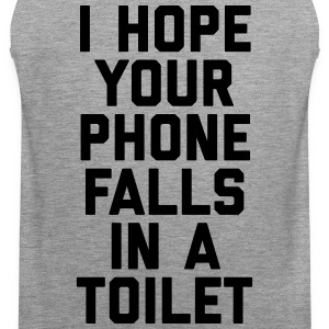 Phone In Toilet Funny Quote Sportkleding - Mannen Premium tank top