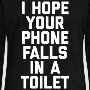 Phone In Toilet Funny Quote Hoodies & Sweatshirts - Women's Boat Neck Long Sleeve Top