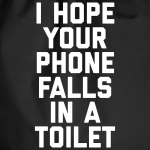 Phone In Toilet Funny Quote Tassen & rugzakken - Gymtas