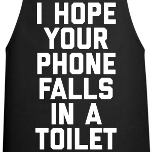 Phone In Toilet Funny Quote  Aprons - Cooking Apron