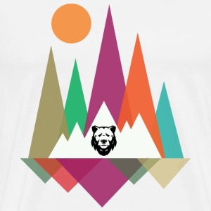 Hipster Mountains & Bear T-Shirts - Men's Premium T-Shirt