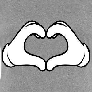 Comic Heart Hand T-Shirts - Frauen Premium T-Shirt