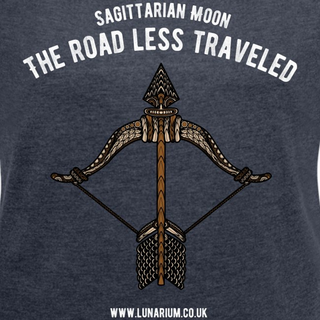 Sagittarius Moon Women's T-shirt with rolled up sleeves