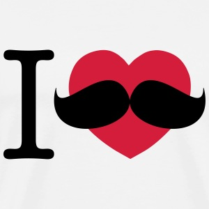 I Love Moustaches - Movember - Men's Premium T-Shirt