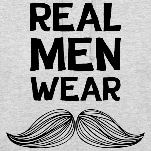 Real Men Wear Moustaches - Movember - Unisex Hoodie