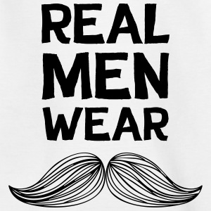 Real Men Wear Moustaches - Movember - Kids' T-Shirt