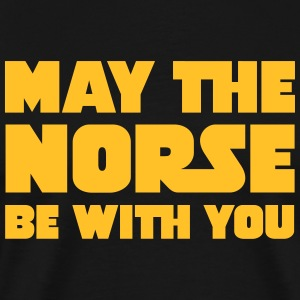 May The Norse Be With You T-shirts - Mannen Premium T-shirt
