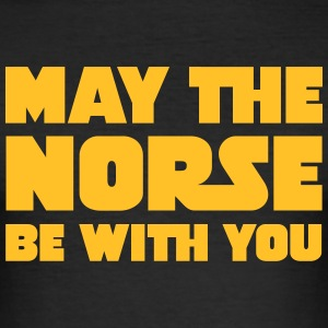 May The Norse Be With You Camisetas - Camiseta ajustada hombre