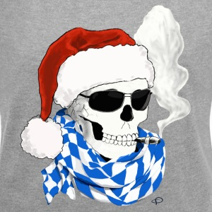 skull_Bayer_XMAS T-Shirts - Women's T-shirt with rolled up sleeves
