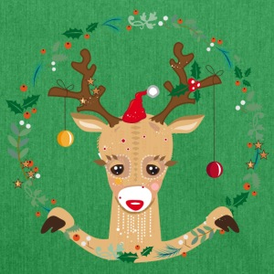 Cute reindeer Bags & Backpacks - Shoulder Bag made from recycled material