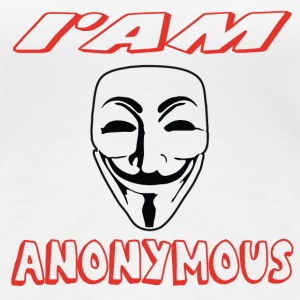 I'am anonymouss Tee shirts - T-shirt Premium Femme