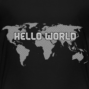 Hello World - White - Kinder Premium T-Shirt