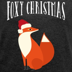 Foxy Christmas T-Shirts - Women's T-shirt with rolled up sleeves