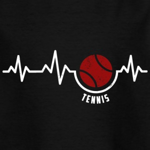 Heartbeat - Tennis Tennisspieler T-Shirts - Teenager T-Shirt