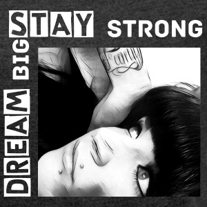 STAY STRONG SHiRT FRAUEN - Frauen T-Shirt mit gerollten Ärmeln