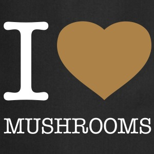 I LOVE MUSHROOMS - Delantal de cocina