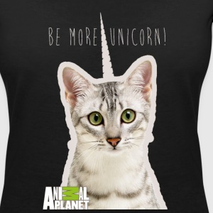 Animal Planet Katze Be more unicorn - Frauen T-Shirt mit V-Ausschnitt