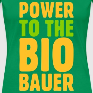 Power to the Biobauer S-3XL T-Shirt - Frauen Premium T-Shirt