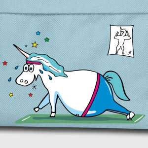 Fat Unicorn doing sports - grasso unicorno Borse & Zaini - Zaino per bambini