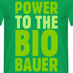 Power to the Biobauer T-Shirt - Männer T-Shirt