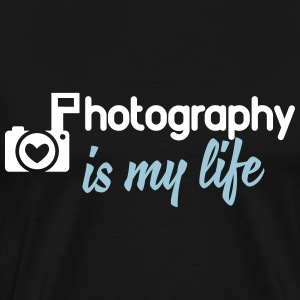 photography is my life T-Shirts - Männer Premium T-Shirt