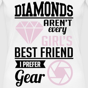 diamonds? i prefer photographer gear T-Shirts - Frauen Premium T-Shirt