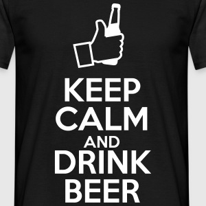 Keep calm and drink beer  - Herre-T-shirt