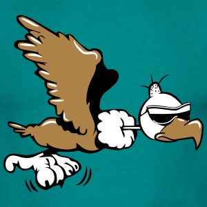 Vulture witty flying sunglasses T-Shirts - Men's T-Shirt