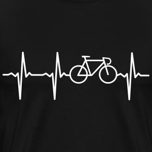 Heartbeat - Bicycle T-shirts - Mannen Premium T-shirt