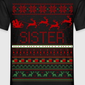 Sister Ugly Christmas Sweater T-Shirts - Men's T-Shirt