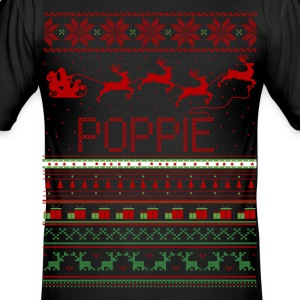 Poppie Ugly Christmas Sweater Xmas T-Shirts - Men's Slim Fit T-Shirt