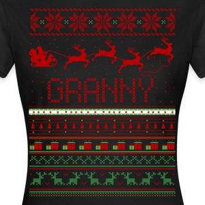 Granny Ugly Christmas Sweater Xmas T-Shirts - Women's T-Shirt